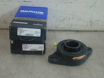 2 Sealmaster Sft-27 Two-Bolt Flange Mounted Bearings, Bore: 1-11/16""