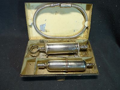 Vintage Medical Cased Instrument Syringe Device