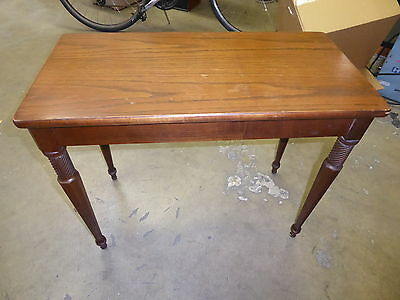Vintage  wood Piano Bench vanity storage chair mid century stool 50s  (100)