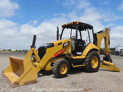 2014 Caterpillar 416F Backhoe Wheel Loader Tractor Q/C Hoe Excavator bidadoo