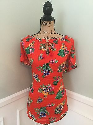 Old Navy Floral Women Maternity Shirt NWT Sz Large LG #13 New Top