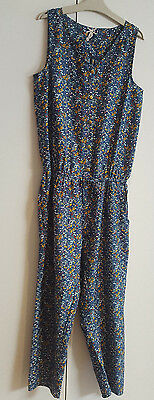 Cute Girls NEXT Sleveless Floral Jumpsuit 12 Years EX CONDITION
