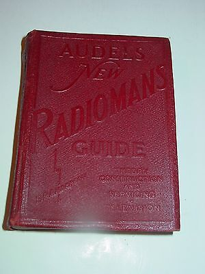 Vintage 1942 Audels Radioman Guide Theory, Construction and Servicing radio tv
