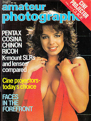 Amateur Photographer magazine with Pentax K mount lenses tested   3rd  Oct  1981