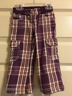 MINI BODEN Girls Pink and Purple Plaid Pants Size 1-1 1/2Y 18-24M