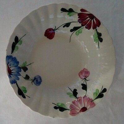 "Vintage Blue Ridge Southern Pottery Mardi Gras 9"" Vegetable Bowl Hand Painted"