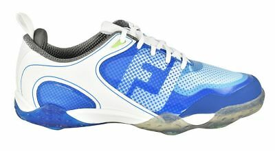 New FootJoy Golf- Freestyle Shoes White/Blue 12W *WIDE* (#57340)