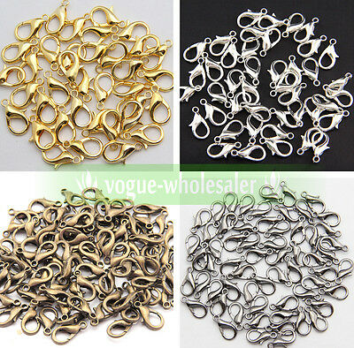 Wholesale High Quality Jewelry Finding Lobster Claw Clasps hook 6Size Making DIY