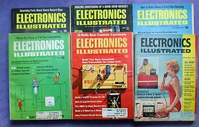 M1 Electronics Illustrated Magazines Lot of 6 from 1960s