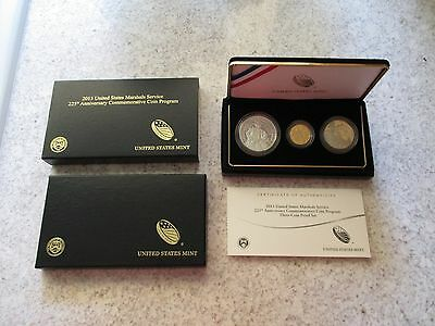 2015 US.Marshals 3 Coin Proof Set - Silver/Gold - Low Mintage & Great Design!