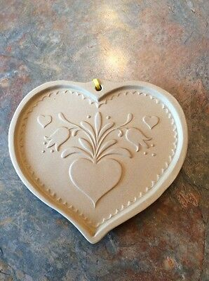 Brown Bag Cookie Art Mold 1986 Heart With Tulips