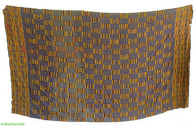 Kente Cloth Asante Ghana Large 120 x 82 Inch African Art