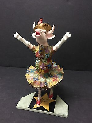 Perfect Cow  Parade Dancing Diva Cow  #9132