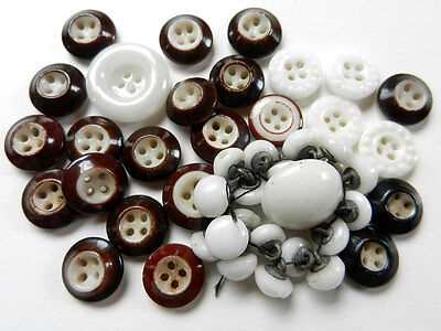Lot of Antique China Buttons Ringers Small Domes and Hobnail Borders