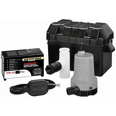 Simer A5500 - Super Ace-In-The-Hole Battery Backup Sump Pump System (2000 GPH...