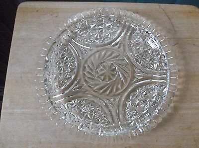 Vintage Anchor Hocking Stars and Bars Clear Glass Sandwich Plate