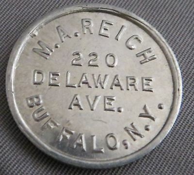 Vintage M. A. Reich Buffalo NY Hand Wrought Gold Rings Token