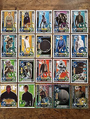 Star Wars - Force Attax 2017 (TOPPS collector cards) 20 x Cards Mixed Lot #21.