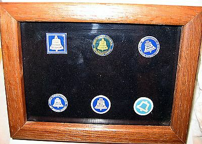 Bell Systems - American Telephone & Telegraph Logo Enamel Lapel Pins -1889 -1969