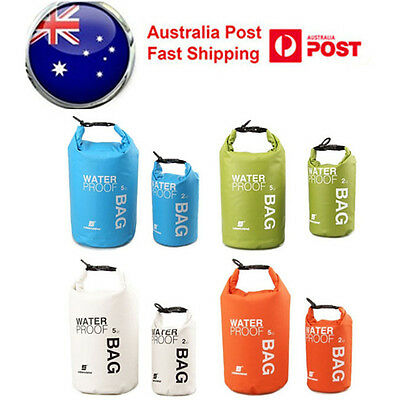 2-15L Waterproof Storage Dry Carry Bag Travel Sack Backpack Pouch Boat Kayak AU