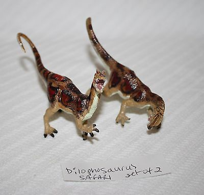 Dilophosaurus Museum Quality Replica 1:40 Model Dinosaur 1993 SET of 2 Carnegie
