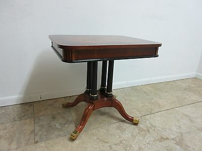 Antique Banded Mahogany Empire Lamp End Table Pedestal Reproduction