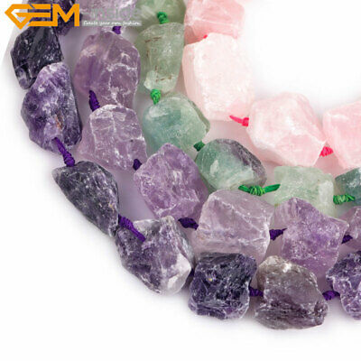 Natural Stone Quartz Top Drilled Gemstone Beads Freefrom For Jewelry Making 15""