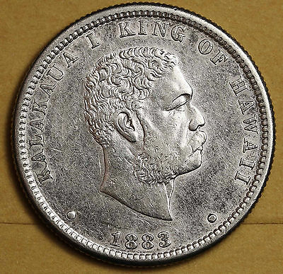 1883 Hawaiian Quarter.  A.U.  95835
