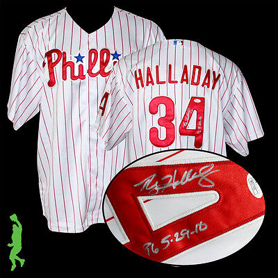 Roy Halladay Pg 5-29-10 Autographed Signed Phillies Baseball Jersey Jsa Coa
