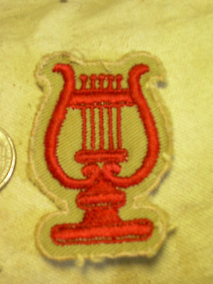 MUSICIAN'S LYRE PATCH band piper pipes England