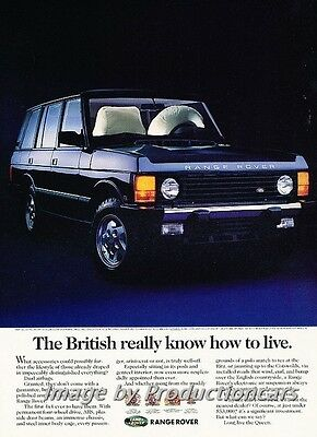 1994 Range Rover - How to Live - Original Advertisement Print Art Car Ad J772