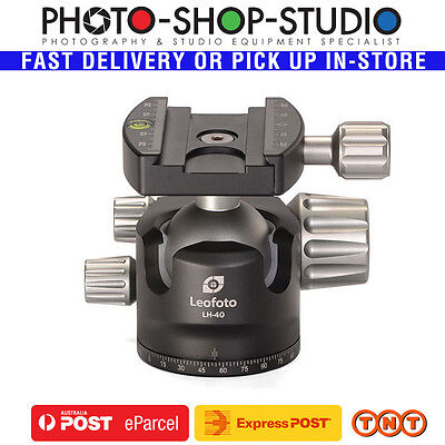 Leofoto Low Profile Ball Head LH-40 (Double-Action) | Maximum Load: 15kg