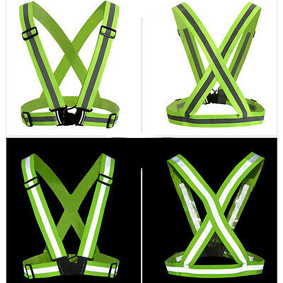 Night Running Safety Reflective Vest Belt Stripe Straps Sports Security Band 1Pc