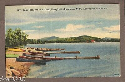 Vintage Postcard 1957 Lake Pleasant Merryland Speculator Ny New York