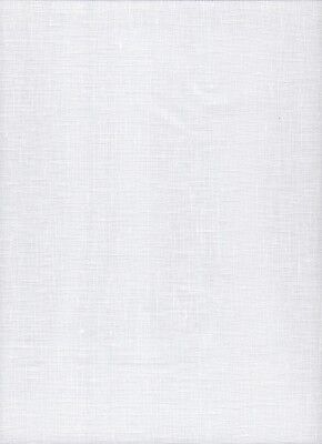 25 count Zweigart Dublin Linen Cross Stitch Fabric Fat Quarter 49 x 70cms White