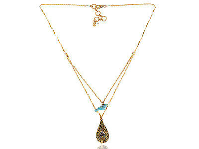 Vintage Retro Boho Gold Chain Bib Necklace Pendant Lady Jewelry Party Chic Gift