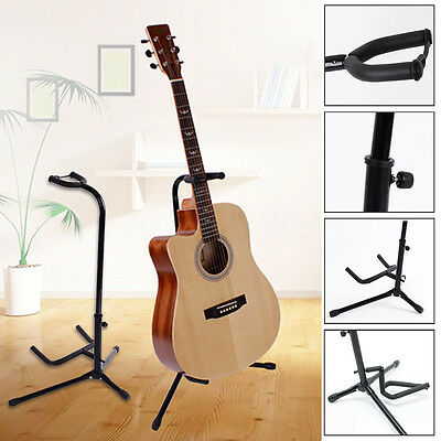 Folding Electric Tripod Acoustic Bass Guitar Violin Stand Floor Holder Rack