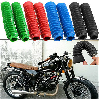 Motorcycle Rubber Front Fork Cover Protector Gaiters Gators Boot Shock For Honda