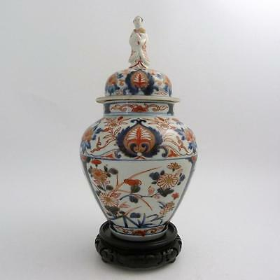 Japanese Imari Porcelain Vase And Cover With Bejin Finial, Edo Period