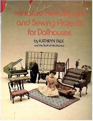 Miniature Needlepoint and Sewing Projects for Dollhouses - Puppenhaus-Buch