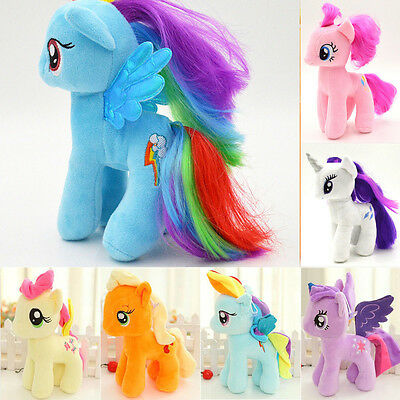 "Hot My Little Horse Toys 7"" Figures Stuffed Plush Soft Teddy Doll Toy Kids Gifts"