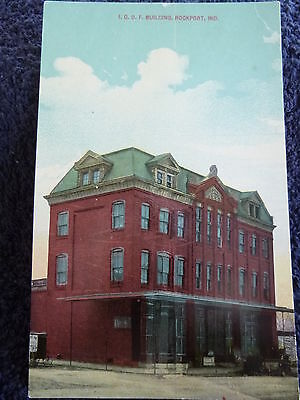 Early 1900's The I.O.O.F. Building in Rockport, In Indiana PC