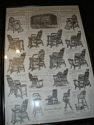 Vintage Barber Shop Advertising --Berninghaus Chairs From The 1880's