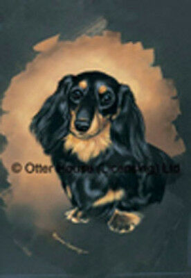 Large Indoor/Outdoor Portrait Flag - Longhaired Dachshund (PP) 90068