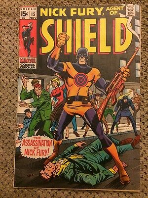 Marvel Comics Nick Fury Agent of S.H.I.E.L.D. #15 Silver Age 1969 First Bullseye