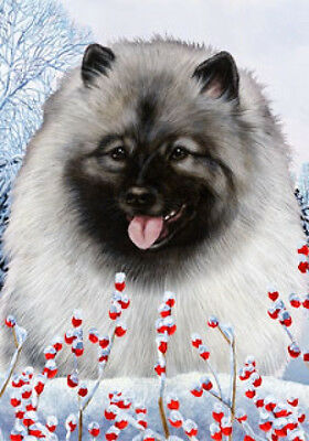 Garden Indoor/Outdoor Winter Flag - Keeshond 150171