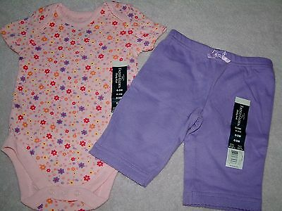 Faded Glory Baby Girl 2 Piece Bodysuit Pants Set - 0-3 months - FREE SHIPPING