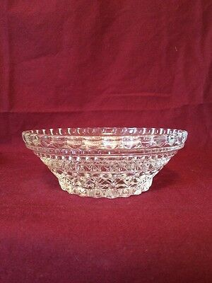 Vintage Etched Glass Candy Dish/ Bowl