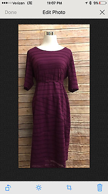 Motherhood Maternity XL Cocktail Party Dress Purple Eyelet New With Tags