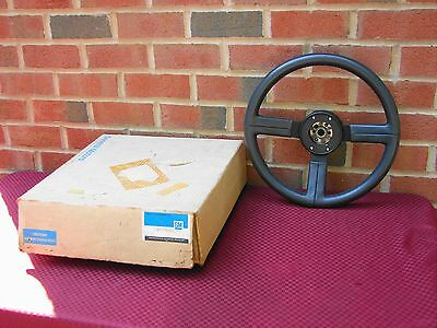 84 85 PONTIAC FIERO NOS GM LEATHER WRAPPED STEERING WHEEL pt# 17980171